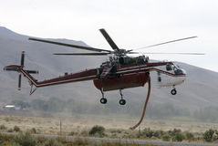 Helicóptero da luta contra o incêndio Imagens de Stock Royalty Free