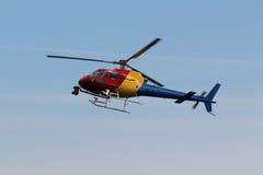 Helicóptero da notícia Fotos de Stock