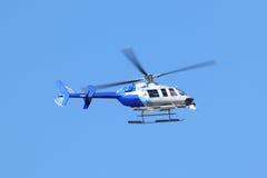 Helicóptero da notícia Fotografia de Stock