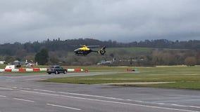 Helicóptero da polícia Imagem de Stock