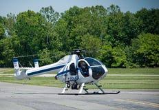 Helicóptero da polícia Fotos de Stock