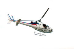 Helicóptero da tevê Imagens de Stock