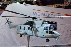 Helicóptero de Airbus H225M na exposição em Singapura Airshow Fotografia de Stock