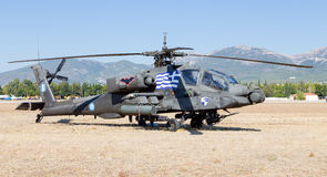 Helicóptero de ataque helénico del ejército AH-64A Apache foto de archivo