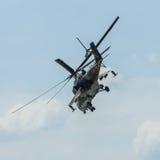 Helicóptero de ataque mil. Mi-24 traseiro Foto de Stock Royalty Free
