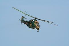 Helicóptero de ataque trasero Mi-24 Imagen de archivo libre de regalías