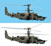 Helicóptero de combate Imágenes de archivo libres de regalías