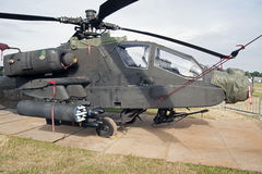 Helicóptero de combate militar de Apache AH-64D Fotos de archivo