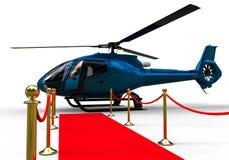 Helicóptero de la alfombra roja stock de ilustración