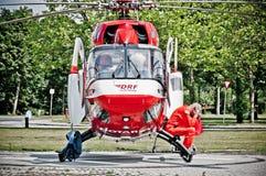 Helicóptero de la ambulancia fotos de archivo