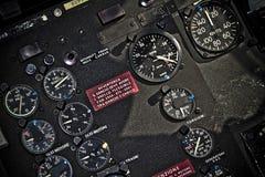 Helicóptero de la instrumentación Imagenes de archivo