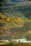 Helicóptero de la lucha contra el fuego Fotografía de archivo libre de regalías