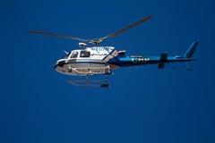 Helicóptero de la patrulla de la carretera foto de archivo libre de regalías