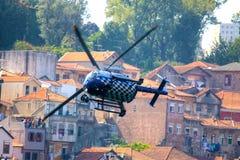 Helicóptero de Red Bull TV Imagen de archivo libre de regalías