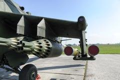 Helicóptero del armamento foto de archivo