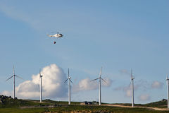 Helicóptero del bombero Fotografía de archivo