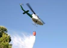 Helicóptero 012 del cuerpo de bomberos Foto de archivo