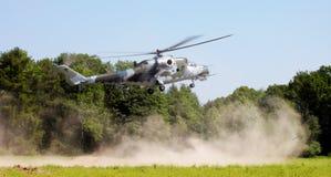 Helicóptero del ejército Fotografía de archivo