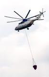 Helicóptero del fuego Imagenes de archivo