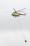 Helicóptero del fuego fotografía de archivo