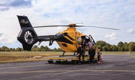 Helicóptero del helicóptero sanitario del ejército de Virginia AirCare 3 Fotografía de archivo