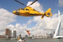 Helicóptero del rescate Imágenes de archivo libres de regalías