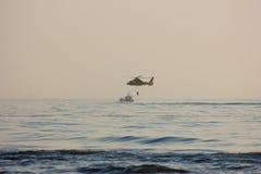 Helicóptero del rescate Foto de archivo