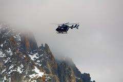Helicóptero del rescate de la montaña Imagen de archivo libre de regalías