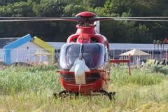 Helicóptero del rescate de SMURD imágenes de archivo libres de regalías