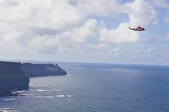 Helicóptero del rescate del guardacostas Fotos de archivo libres de regalías