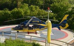 Helicóptero 2014 del vuelo de la supervivencia de la Universidad de Michigan Imagen de archivo