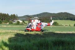 Helicóptero derecho del rescate Foto de archivo libre de regalías