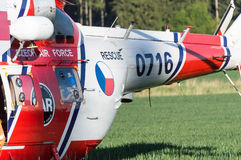 Helicóptero derecho del rescate Imagen de archivo