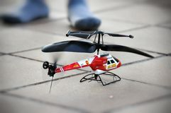 Helicóptero do brinquedo Fotografia de Stock Royalty Free