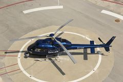 Helicóptero do controlo de tráfico imagem de stock
