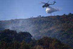 Helicóptero do incêndio Fotografia de Stock Royalty Free