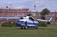 Helicóptero do russo Mil-8 foto de stock