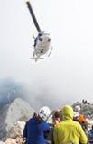 Helicóptero do salvamento da montanha Foto de Stock