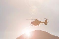 Helicóptero do salvamento da montanha Fotos de Stock Royalty Free