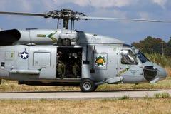 Helicóptero do salvamento de Seahawk Fotos de Stock Royalty Free