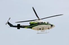 Helicóptero do salvamento do incêndio do condado de Miami Dade Fotografia de Stock Royalty Free
