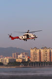 Helicóptero do salvamento EC225 fotografia de stock royalty free