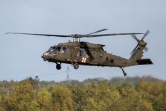 Helicóptero do transporte de Sikorsky UH-60 Blackhawk do exército de Estados Unidos Foto de Stock Royalty Free