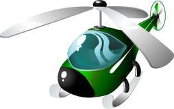Helicóptero dos desenhos animados Fotos de Stock Royalty Free