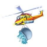 Helicóptero dos desenhos animados Fotos de Stock
