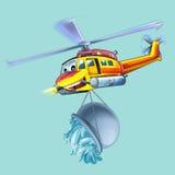 Helicóptero dos desenhos animados Imagem de Stock