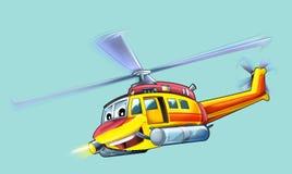 Helicóptero dos desenhos animados Foto de Stock Royalty Free