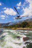 Helicóptero dos Rapids do rio do Paddler Imagens de Stock