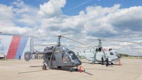 Helicóptero em um airshow em Kubinka Imagem de Stock