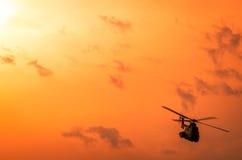 Helicóptero en Airshow fotos de archivo libres de regalías